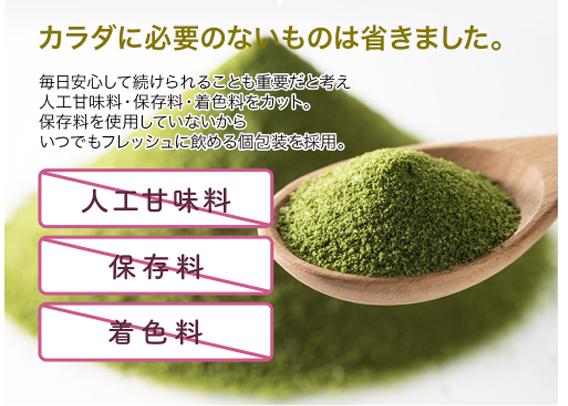 MAMグリーンプロテインダイエット 不要な添加物カット